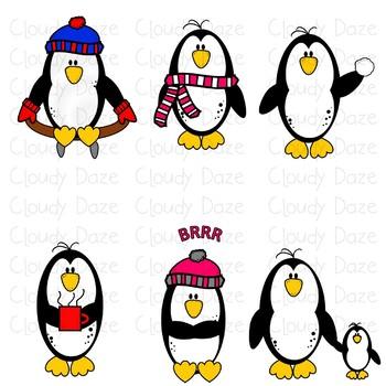 Penguin Clip Art Winter Fun
