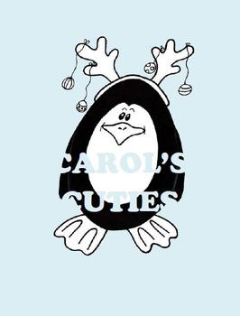 Penguin Clip Art - Silly Penguins B&W