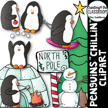 Penguin Clip Art {Christmas Clip Art}