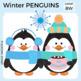 Penguin Clip Art, Cute Penguin Graphic, Penguin Clipart Set, Winter Clipart