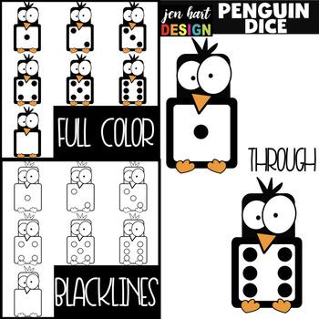 Penguin Clip Art - Dice {jen hart Clip Art}
