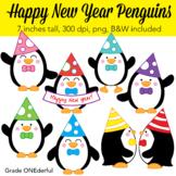 Penguin Clip Art, Happy New Year Clipart, CU Okay