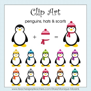 Penguin Clip Art - Hats and scarfs