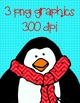 Penguin Clip Art ~ Mini-Kit Graphics ~ Christmas FREEBIE