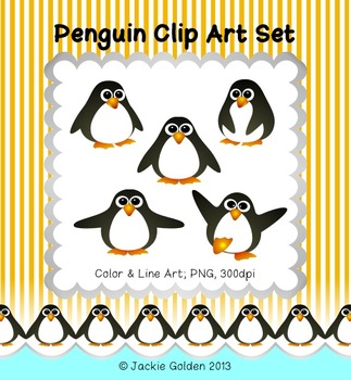 Penguin Clip Art Set