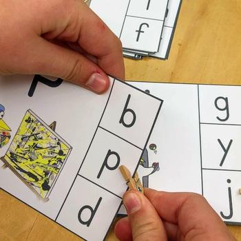 Penguin Theme - Clip Cards Literacy Center Activity