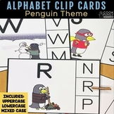 Alphabet Practice Clip Cards | Penguin Theme