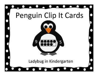 Penguin Clip It Cards 1-20