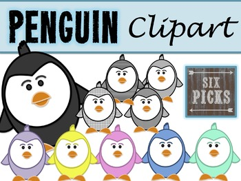 Penguin Clipart {10 Colors/Patterns)