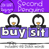 "Penguin Clipart - Dolch Sight Word Clip Art ""SECOND"" {Jen"