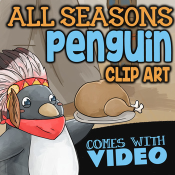 Penguin Clipart w/ Christmas Penguin Clipart ★ All Months of the Year Clipart