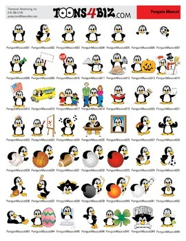 Penguin Clipart Set