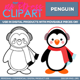Penguin Clipart Single   Digital Use Ok!
