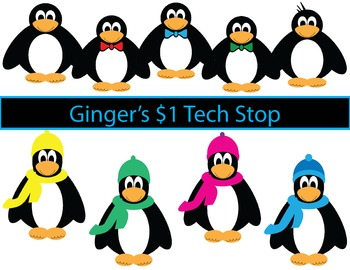 Penguin Clipart * Winter * Cold Weather