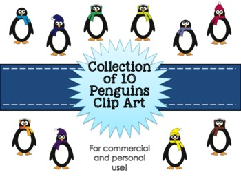 Penguin Clipart Collection for Commercial and Personal Use FREEBIE