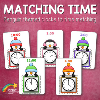 Penguin Clocks and Time Matching Activity Cards