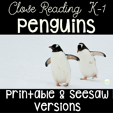All About Penguins Nonfiction Seesaw and Printable Unit