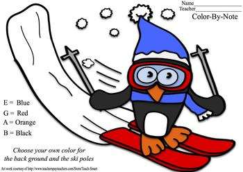 Penguin Color-By-Note