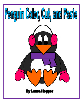 Penguin Color, Cut, and Paste Craft