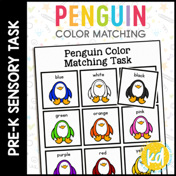 Penguin Color Matching Folder Game for Early Childhood Spe