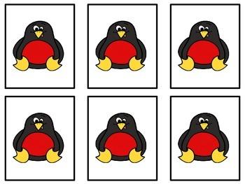 Penguin Color Sorting Mats
