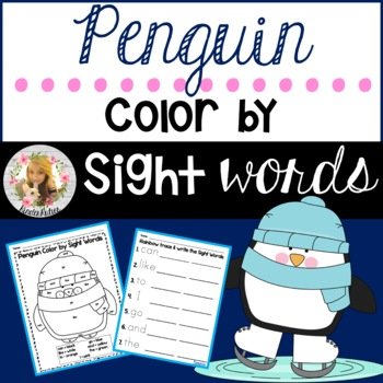 Penguin Color by Sight Words