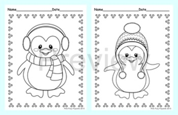 Penguin Coloring Pages - 8 Designs