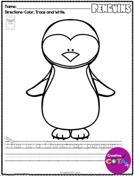 Penguin Coloring and Sentence Trace and Write