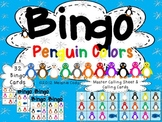 Penguin Colors Bingo -- French and English