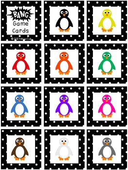 Penguin Colors Vocabulary Game -- BANG!