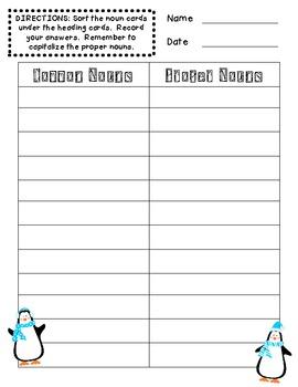 Penguin Common and Proper Noun Sort