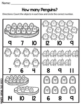 Penguin Counting Clip cards (Numbers 1-20 plus worksheets ...