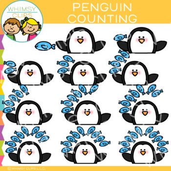 Penguin Counting Clip Art