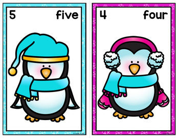 Penguins Counting Mats 0-20