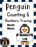 Penguin Counting and Numbers Tracing Math Mats (twenty frames)