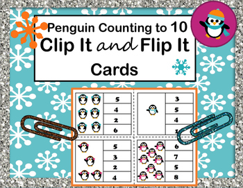 Clip It and Flip It Counting to 10 - Penguins