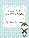 Penguin Craft & Writing Activity