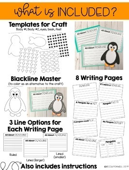 Penguin Craft and Writing Pages