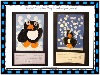 Penguin Craftivity FREEBIE!  Directed Painting and Measurement Activity