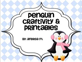 photo regarding Penguin Pattern Printable referred to as Penguin Craftivity and Printables!