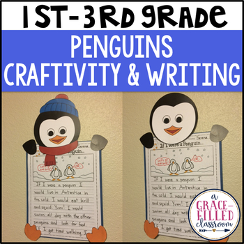 Penguin Craftivity with Writing Paper