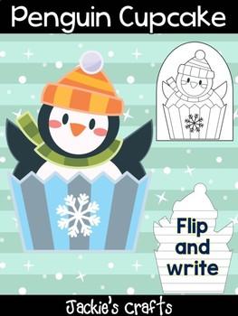 Penguin Cupcake - Jackie's Crafts, Winter Activities,  Writing, Christmas