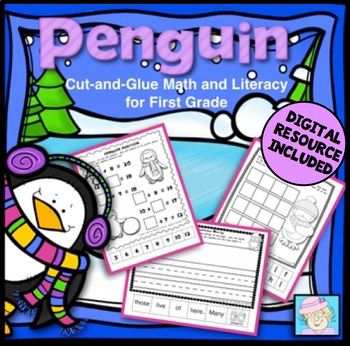 Penguin Math and Literacy for First Grade with BOOM CARDS