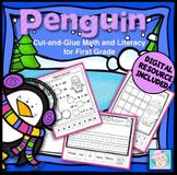 Winter Activities 1st Grade Penguins Math & Literacy 1st Grade & BOOM CARDS