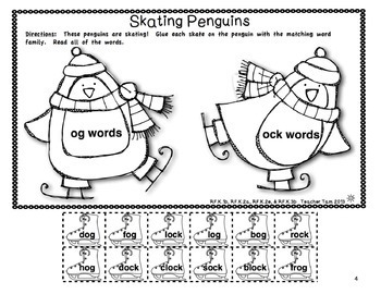 Penguin Cut-and-Glue Math and Literacy for Kindergarten