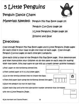 Penguin Dance Song, Video and Extension Activities