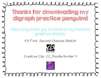 Penguin Digraph Practice