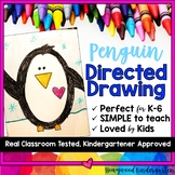 Penguin Directed Drawing ... Fun for Winter .. January .. Antarctica .. anytime!