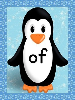 Penguin Dolch 1st Grade High Frequency Sight Word Posters and Flashcards