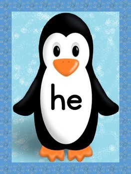 Penguin Dolch Primer Sight Word Posters and Flashcards